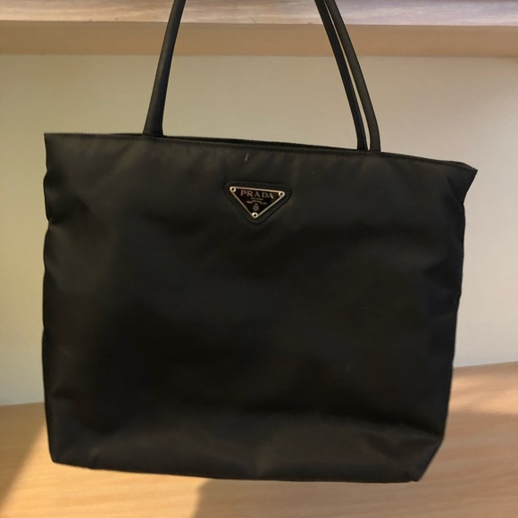 1bec6c0cd5 Prada nylon black tote bag